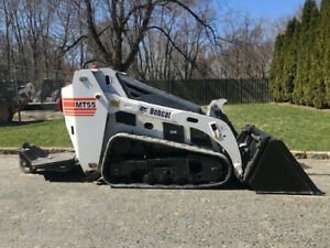 2014 Bobcat Mt55 Ride on Mini Skid Steer Track Crawler Diesel Bob Cat Loader