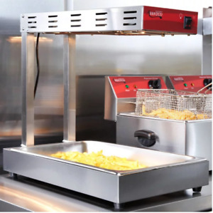 Commercial Infrared French Fry Food Warmer Fryer Dump Station Heat Lamp New