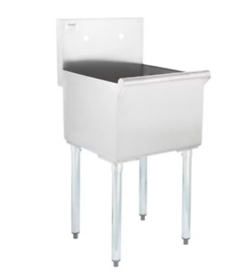 Commercial Stainless Steel Utility Kitchen Sink Hand Wash Tub 18 X 18 X 13