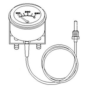 A And I At149005 Gauge Transmission Oil Temperature For John Deere Industrial