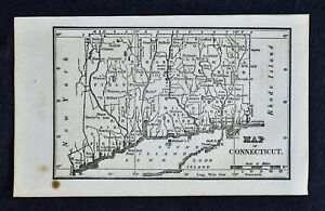 1830 Nathan Hale Map Connecticut New Haven Hartford New London Middleton Ct
