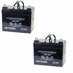 2 Pack Upg Ub12350 12v 35ah Sla Battery Replaces Pride Mobility Rally Scooter