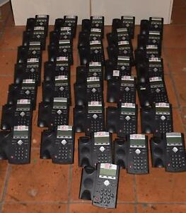 Polycom Soundpoint Ip 335 Ip335 Lot Of 35 Voip Telephones W 35 Handsets a1