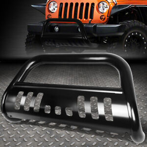 For 18 19 Jeep Wrangler Stainless Steel 3 bull Bar Front Bumper Grill Push Guard