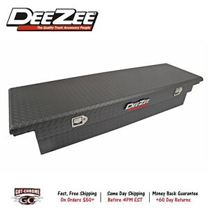 Dee Zee 8170ltb Aluminum Truck Crossover Tool Box Low Profile Single Lid Black