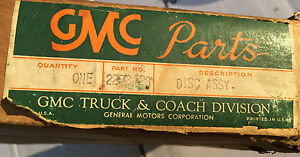 Nos Vintage Gmc Clutch Disc 2278428 1940s 1950s 1960s 2120731 Pickup Chevy
