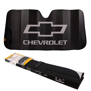 New Chevy Car Truck Black Windshield Front Folding Sun Shade Sunshade 27 X58