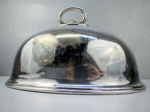 Vtg Antique English Walker Hall Sheffield A1 Silverplate Meat Dome Cloche 51161