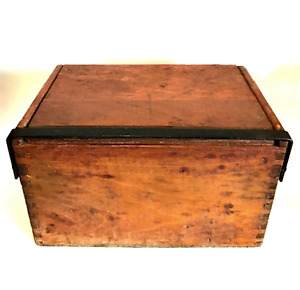 Dovetailed Box Antique Chest Wrought Iron Hardware Very Old Estate Sale Find