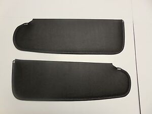Mopar 63 64 65 66 Dart Valiant Barracuda Black Sun Visors 1963 1964 1965 1966