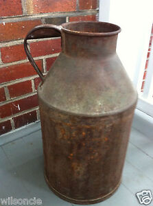 Vintage Antique Primitive Rustic Rusty Milk Can Bottle Smp From Canada