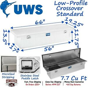 Tbs 66 lp Uws Aluminum Truck Crossover Toolbox Low Profile