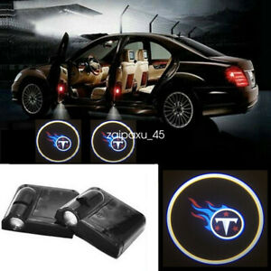 2pc Led Car Door Welcome Laser Projector Logo For Tennessee Titans Shadow Light