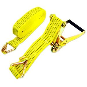 Two New 2 X 27 10 000lb Ratchet Straps J Hook Ratcheting Tie Down Heavy Duty