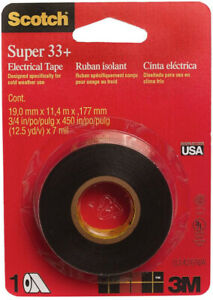 3m Scotch Vinyl Electrical Tape Super 33 Adhesive Wire Insulation Black 24 Case