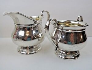 International Prelude Solid Sterling Silver Cream And Sugar Set Mono D C147