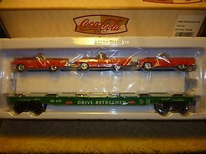 K-Line Coca-Cola Flat Car w/3 Ford T-Birds K691-5101