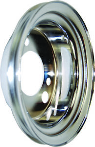 Chevy Power Steering Add On Crank Pulley 1 Groove Small Block Short Pump Chrome