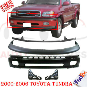 Front Lower Bumper For 2000 2006 Toyota Tundra Dlx Sr5 W Filler Black Steel 5pc