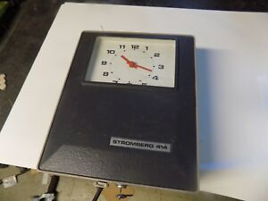 Vintage Stromberg 414 Time Clock Time Recorder Wall Mount