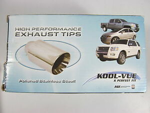 Kool Vue Kv160104 Single Exhaust Tip Polished Stainless Steele