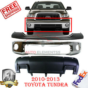 Front Bumper With Upper Cover Lower Valance For 2010 2012 Toyota Tundra 3pc