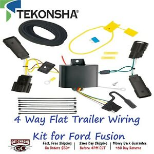 118574 Tekonsha T one 4 Way Flat Trailer Wiring Connector Kit For Ford Fusion