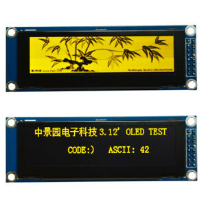 3 12 Inch Yellow Oled Display Ssd1322 256x64 Spi Serial Port Module For Arduino