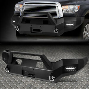 For 07 13 Toyota Tundra Rock Crawler Front Bumper W Winch Plate 2x Led Fog Light
