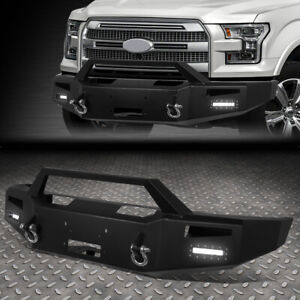 For 15 17 Ford F150 Rock Crawler Front Bumper W Winch Plate Led Fog Light D Ring