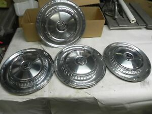 1957 Dodge Hub Caps Wheel Covers Nice Cool Wow Vintage Automotive Good Condition