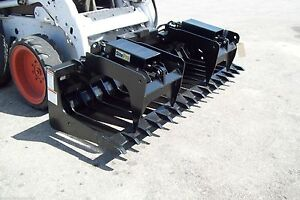 Skid Steer Root Grapple Hd 84 Wide 896 Lbs site Pro Made In Usa Fits Bobcats