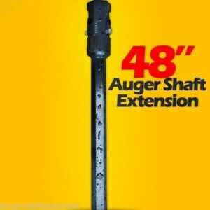 48 Skid Steer Auger Extension fits 2 Hex Auger Bits Fixed Length mcmillen