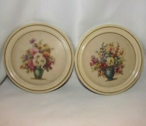 Pair Of Vintage Shabby Chic Cream Colored 6 1 2 Inch Round Frames