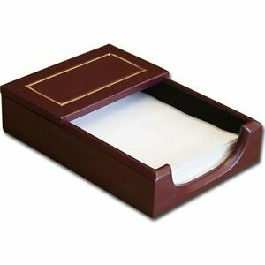 Dacasso Burgundy T Gold Tooled Leather 4x6 Memo Holder