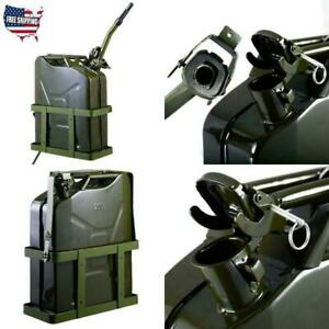 5gl Military Truck Nato Style Metal Gas Diesel Fuel Jerry Can Army W Holde