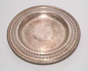 Vintage Wm Rogers Round Serving Tray Dish 811 Rope Edge 10 1 4
