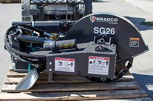 Bobcat Stump Grinder By Bradco grinds 10 Below Ground standard Flow in Stock