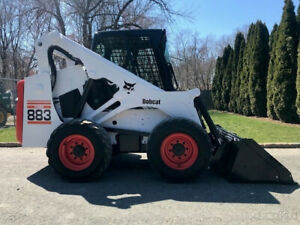 2001 Bobcat 883 Rubber Tire Skid Steer Loader Cab Diesel Bob Cat Wheel Skidsteer