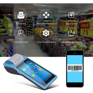 5 5 Inch Android Smart Pad Mobile Pos Terminal Bluetooth Receipt Printer D8s2