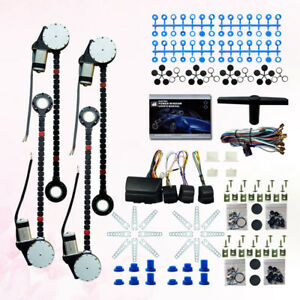 Universal 4 Door Power Window Conversion Kit For All Makes Car Truck Suv Dc24v