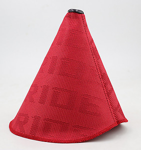 Racing Bride Red Hyper Fabric Shift Boot Jdm Shift Knob Cover For Universal Car