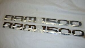 2 2003 2008 Dodge Ram 1500 Chrome Door Emblems New Oem