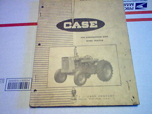 Case 530 Construction King Wheel Tractor Parts Catalog original Issued 7 65