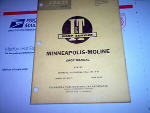 Ub Special Uts Special 5 Star M5 G Vi Minneapolis Moline Tractor I t Shop Manual