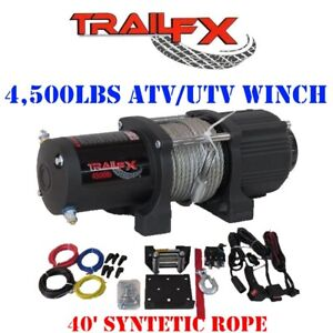 Ws45b Trail Fx Recovery 4 500 Lbs Atv Utv Winch W Synthetic Rope Cable