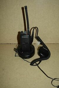 Motorola Ht750 Portable Two Way Radio W Base And Charger f
