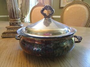 Vtg Silverplate Casserole With Lid Double Handled Vtg 1970 S