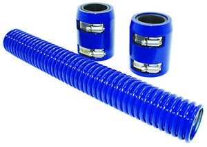 12 Blue Stainless Flexible Radiator Hose Kit W Billet Clamp Covers Chevy Ford