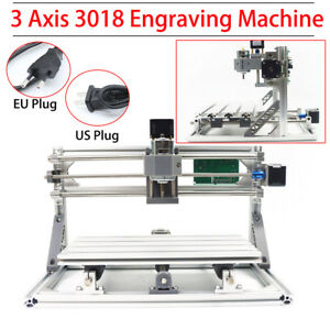220v Eu 3 Axis Usb 3018 Cnc Router Set Diy Mini Laser Milling Engraver Machine